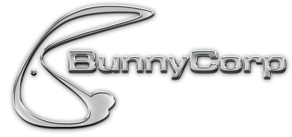 3D Bunny Logo - chrome