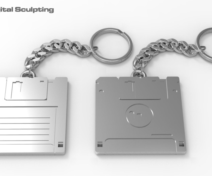 Digital Sculpting - Stiffy Drive Keyring