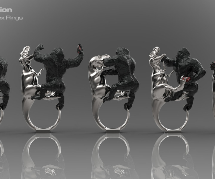 Gorilla vs T-Rex Rings